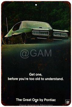 1968 Pontiac GTO Vintage Look Reproduction 8x12 Metal Sign 8122048