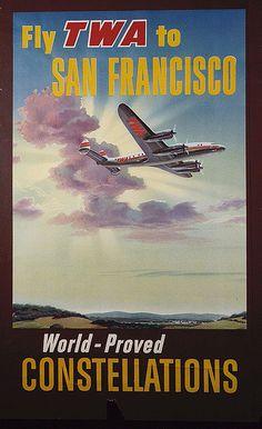 TWA San Francisco Poster