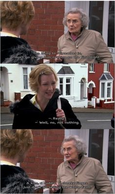 When Doris gave Stacey some dating advice- gavin and stacey British Sitcoms, British Comedy, Tv Quotes, Movie Quotes, Epic Quotes, Taylor Swift Youtube, Gavin And Stacey, Online Dating Apps, British Humor