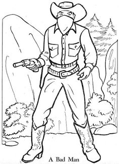 cowboy and cowgirl coloring pages.html