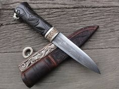 Beautiful Viking Knife, called the Crow, by Gullinbursti.