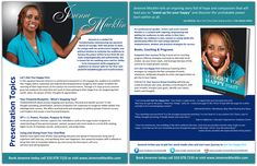 Professional Speaker one sheet samples and graphic design services Stand Up For Yourself, Speaker Design, New Times, Graphic Design Services, Book Signing, Book Cover Design, Are You Happy, Coaching, Author