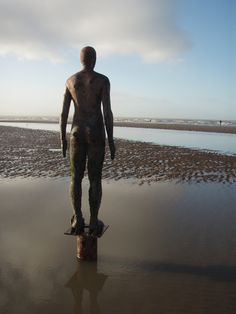 the Iron Men, by Anthony Gormley, at Crosby Beach, Liverpool Liverpool History, Liverpool Home, Liverpool England, Manchester England, Ringo Starr, George Harrison, John Lennon, Crosby Beach, Beatles