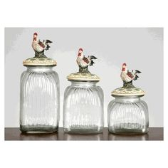 Rooster Canister Set