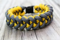 The Piranha - Paracord Survival Bracelet Custom Colors. $15.00 USD, via Etsy.