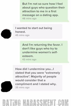 Dating Harassment #68: Being Honest