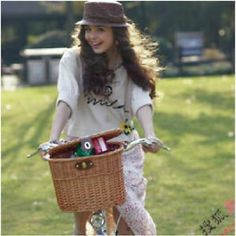 Mailbox for front porch??New Chic Cycling BICYCLE BIKE Manual BASKET CLASSIC Style Wicker Bag CarrIER
