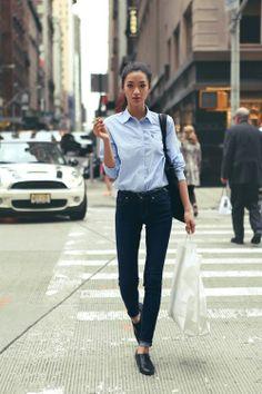 Denim Shirt, Street Style find more women fashion on www.misspool.com