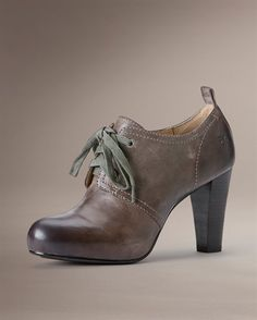 3 in heel w hidden platform Lace Booties, The Frye Company, Frye Boots, 5 Inch Heels, 2000s, Style Me, Naked, Oxford Shoes, Vogue