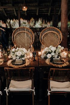 The bride and groom table with bamboo seating and natural/earthy decorations ∙ Planning, designing by Destination Weddings Tulum ( on IG) Production, Rentals, and Setup by Aquadeco Tulum Rentals ( on IG) Flowers by Moni Junco ( on IG) Boho Beach Wedding, Miami Wedding, Wedding Reception Table Decorations, Decor Wedding, Wedding Ideas, Maui Vacation, Marrying My Best Friend, Cave Diving, Scuba Diving