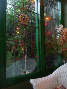 Bohemian window treatments. Gypsy chic flair. -Romany Soup Home