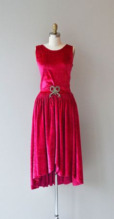Bonjour Paris l 1920s vintage silk velvet dress by DearGolden