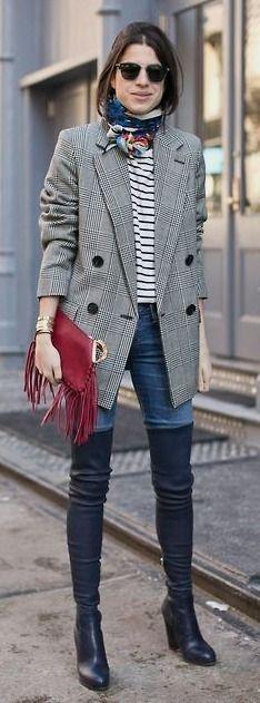 (1198) Photo | Leandra Medine, Oversized Blazer and Boots #photo