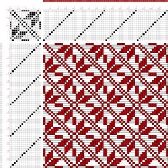 draft image: Threading Draft from Divisional Profile, Tieup: 16 Harness Patterns - The Fanciest Twills of All, Draft #34707, 16S, 16T