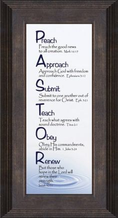 Amazon.com: Pastor Inspiration Saying based on Christian Scripture Framed Gift for Clergy Appreciation with Honor and Gratitude in Sacrificial Dedication: Pastor Appreciation Gifts: Posters & Prints