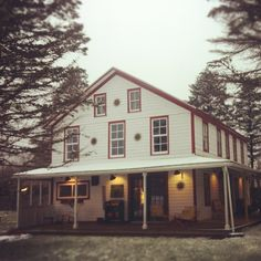 Guesthouse in the snow