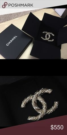 4d9bbe335ee Chanel brooch Brand new! 100% authentic! Came with original box shown in the
