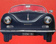 """Porsche 356 Fortuna Racing"" mixed media on canvas 150x120 cm # monicasali.it"
