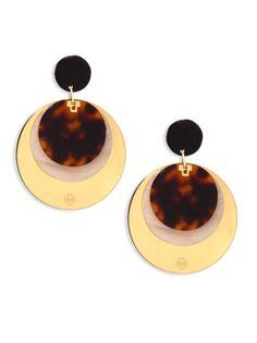 Tory Burch - Layered Disc Earrings/Goldtone
