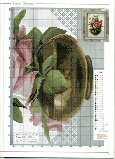 Gallery.ru / Фото #8 - 28 - markisa81 Cross Stitch Boards, Cross Stitch Rose, Cross Stitch Flowers, Cross Stitching, Cross Stitch Embroidery, Cross Stitch Patterns, Elegant Flowers, Pretty Flowers, Needlepoint