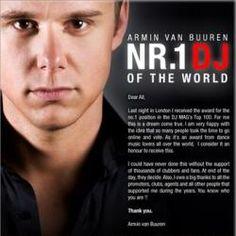 Armin van Buuren, 5 keer uitgeroepen tot beste dj ter wereld. Dit jaar heeft hij het helaas niet gehaald.