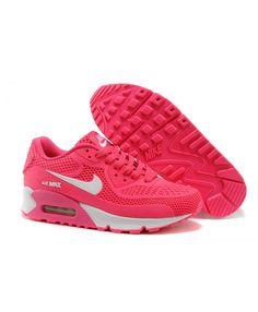 eeb3bb463 Femme Nike Air Max 90 Kpu Mesh Rose Blanc Chaussures