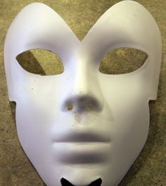 How to make the ultimate paper mache mask! I love the smooth finish. Just in time for Halloween!