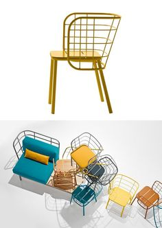 Metal easy chair with armrests JUJUBE by CHAIRS  MORE | #design 4P1B Design Studio @chairsandmore