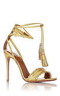 Aquazzura.Sun Valley Ankle-Tie Sandals