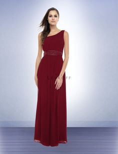 Pretty bridesmaid dress...Bill Levkoff Bridesmaid Dress Style 163 color: Cranberry