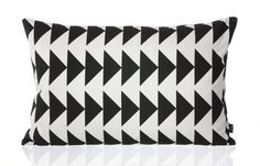 Black Arrow Cushion by Ferm Living | Who says holiday decor can't be black and white? | 2Modern Furniture & Lighting