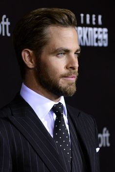 Chris Pine. I want his face, his hair and beard, and dress in that hot suit!!!