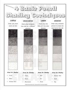 4 Basic Pencil Shading Techniques More