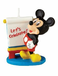 Wilton Mickey Mouse Clubhouse Cake Candle by Wilton. $5.10. 3-Inch high. Clean burning. Hand painted. Coordinates with other party products. Always a party favorite, Mickey Mouse candle is hand painted with fun details. Clean-burning. 3-inch high.