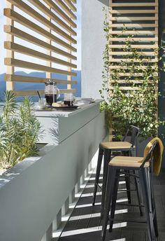 Salons et meubles de balcon: notre shopping malin - Marie Claire Nest Building, Garden Fencing, Outdoor Areas, Blinds, Loft, Curtains, Interior Design, Wall, Inspiration
