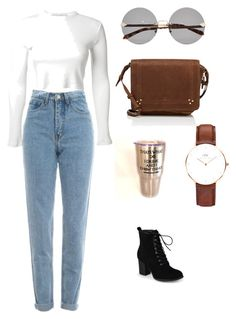 """cozy time"" by mxgvi ❤ liked on Polyvore featuring Rosetta Getty, WALL, Karen Walker, Daniel Wellington, Jérôme Dreyfuss and Journee Collection"