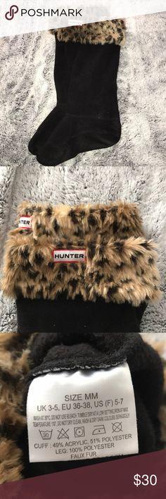 Hunter Boot Socks Cheetah Fur Hunter Boot Socks. Gently used. Size M Hunter Boots Shoes