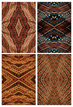 African Patterns by undividual on DeviantArt Art Textile, Textile Patterns, Textile Design, Print Patterns, African Textiles, African Fabric, African Patterns, African Prints, Abstract Pattern
