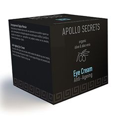 Anti Ageing Eye Cream For Men - 40ml - By Apollo Secrets Natural Cosmetics - Reduces Dark Circles, Eye Bags, Puffy Eyes, Fine Lines, Crows Feet, Wrinkles, Puffiness - Especially Developed For Men: Amazon.co.uk: Beauty