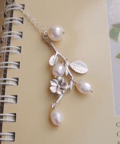 bridal necklace cherry blossom