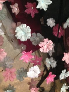 It's all in the details.  #fashiondesigner #fashion #flowers #spring2014 #dresses #tulle #michaeldepaulo