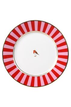 PiP Teller Ø cm, rot/pink Red Plates, Plates And Bowls, Oriental, Breakfast Plate, Pip Studio, Red Kitchen, Kokeshi Dolls, Love Birds, Dinner Plates