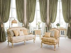 enhance your room with various curtain styles | drapery room ideas