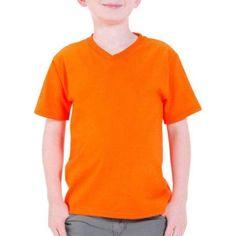Fruit of the Loom Boys' Short Sleeve V-Neck Tee, Size: XS, Orange
