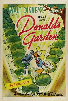 Theatrical poster of Donald Duck in Donald's Garden.