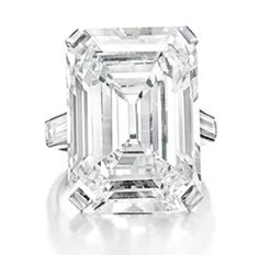 Huguette M. Clark's D color emerald-cut diamond ring of 19.86 carats by Cartier - circa 1920