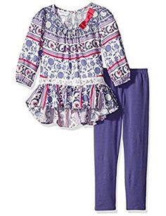 Bonnie Jean Girls' Boho Dress and Legging Set Bonnie Jean, Girls Jeans, Outfit Sets, Boho Dress, Latest Fashion Trends, Toddler Girl, Fall Outfits, Clothing Sets, Girl Fashion
