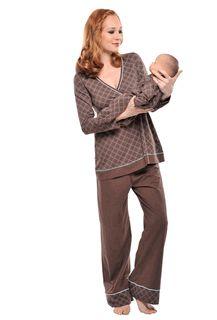 Mom and baby nursing pjs