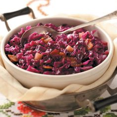 Red Cabbage with Apple Recipe from Taste of Home -- shared by Patricia Rutherford of Winchester, Illinois   #Oktoberfest