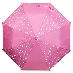 Vera Auto Open/Close COLOR CHANGING Umbrella (Pink Dots)